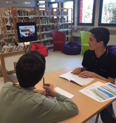 Écriture collaborative grâce au robot Beam